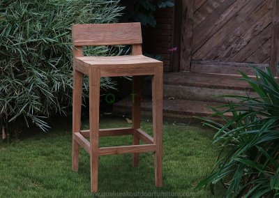 Teak Reclaimed Bar Chair Moha