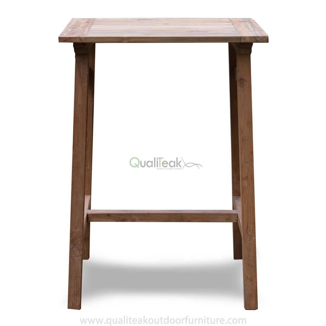 teak reclaimed outdoor bar table