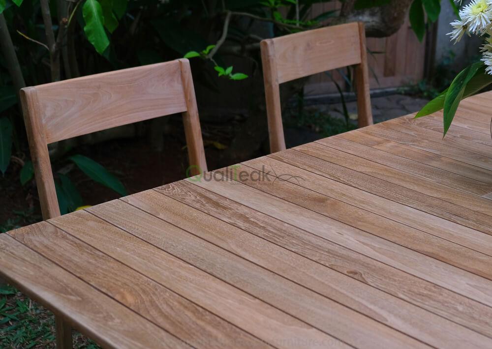 teak outdoor dining table